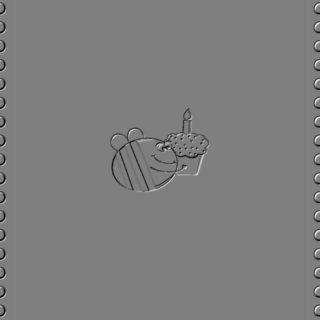 ハチ グレーの iPhone5s / iPhone5c / iPhone5 壁紙