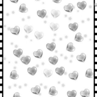 ハート モノクロの iPhone5s / iPhone5c / iPhone5 壁紙