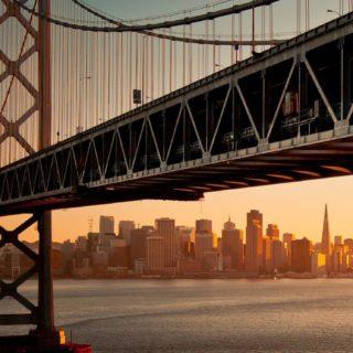 風景橋海の iPhone5s / iPhone5c / iPhone5 壁紙