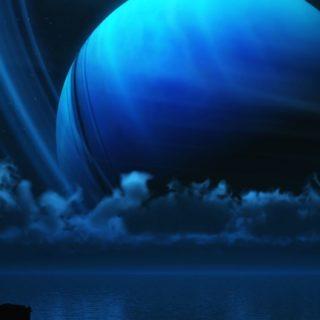 風景土星青の iPhone5s / iPhone5c / iPhone5 壁紙