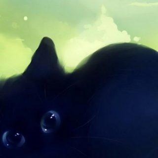 猫黒の iPhone5s / iPhone5c / iPhone5 壁紙