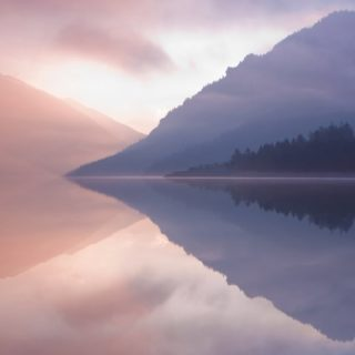 風景湖の iPhone5s / iPhone5c / iPhone5 壁紙