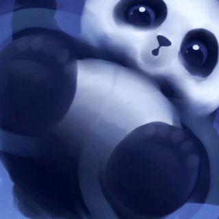 動物絵パンダの iPhone5s / iPhone5c / iPhone5 壁紙