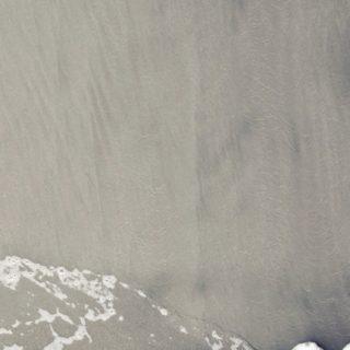 風景砂浜白の iPhone5s / iPhone5c / iPhone5 壁紙