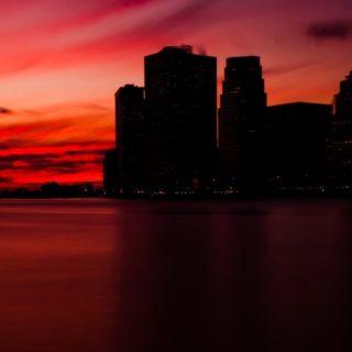 風景夕方黒の iPhone5s / iPhone5c / iPhone5 壁紙