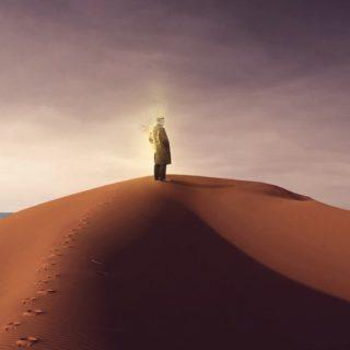 キャラ風景砂漠の iPhone5s / iPhone5c / iPhone5 壁紙