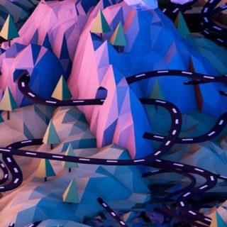 風景クール絵青の iPhone5s / iPhone5c / iPhone5 壁紙