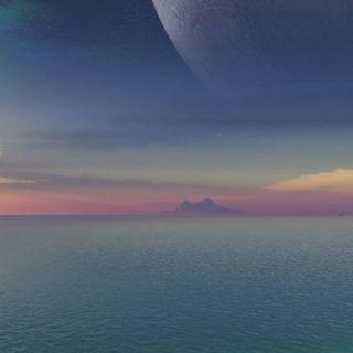 模風景ビーチの iPhone5s / iPhone5c / iPhone5 壁紙
