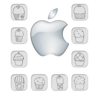 棚Apple白の iPhone5s / iPhone5c / iPhone5 壁紙