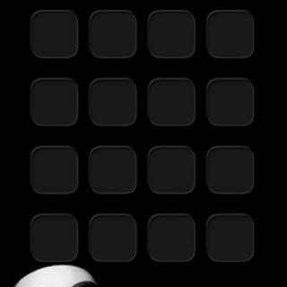 棚キャラ黒の iPhone5s / iPhone5c / iPhone5 壁紙