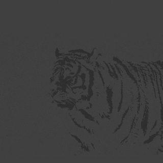 動物トラ黒の iPhone5s / iPhone5c / iPhone5 壁紙