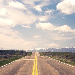 風景道路の iPhone5s / iPhone5c / iPhone5 壁紙