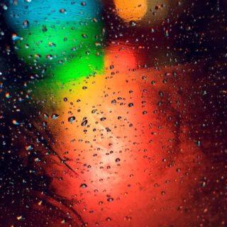 風景ガラス水滴の iPhone5s / iPhone5c / iPhone5 壁紙