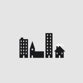 クール建物白の iPhone5s / iPhone5c / iPhone5 壁紙