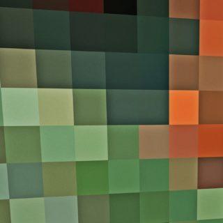 模様緑橙の iPhone5s / iPhone5c / iPhone5 壁紙
