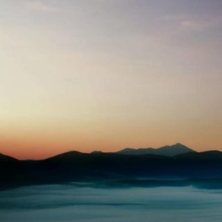 風景海空橙の iPhone5s / iPhone5c / iPhone5 壁紙