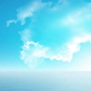 風景海空青雲の iPhone5s / iPhone5c / iPhone5 壁紙