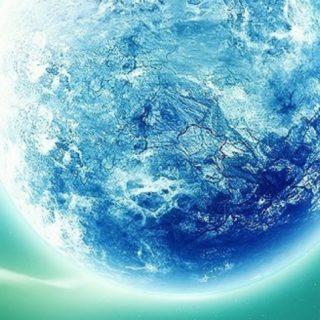 イラスト惑星青緑の iPhone5s / iPhone5c / iPhone5 壁紙