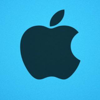 appleロゴ青の iPhone5s / iPhone5c / iPhone5 壁紙