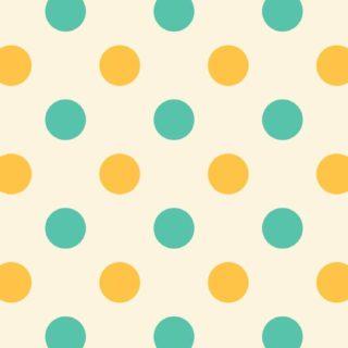 水玉黄色緑の iPhone5s / iPhone5c / iPhone5 壁紙