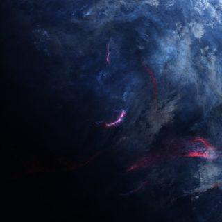惑星青黒クールの iPhone5s / iPhone5c / iPhone5 壁紙