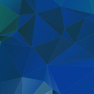 模様立体青の iPhone5s / iPhone5c / iPhone5 壁紙