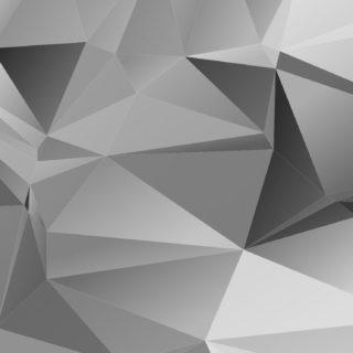 模様立体黒銀の iPhone5s / iPhone5c / iPhone5 壁紙