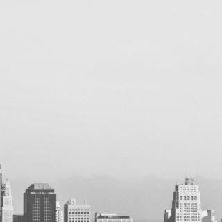 モノクロ景色建物モダンの iPhone5s / iPhone5c / iPhone5 壁紙