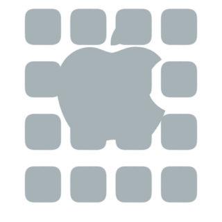棚apple白灰の iPhone5s / iPhone5c / iPhone5 壁紙