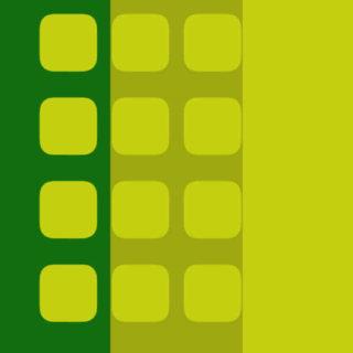 棚黄色緑可愛いの iPhone5s / iPhone5c / iPhone5 壁紙