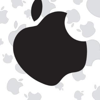 appleロゴ可愛いモノトーンモノクロの iPhone5s / iPhone5c / iPhone5 壁紙