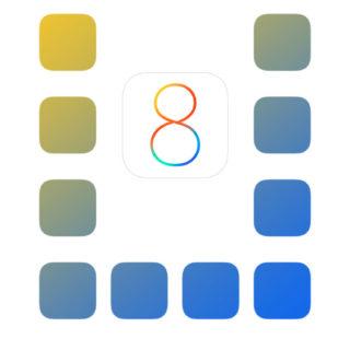 棚apple青黄白クールの iPhone5s / iPhone5c / iPhone5 壁紙