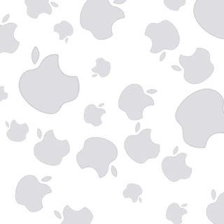 appleロゴ白灰モノクロ可愛い女子向けの iPhone5s / iPhone5c / iPhone5 壁紙