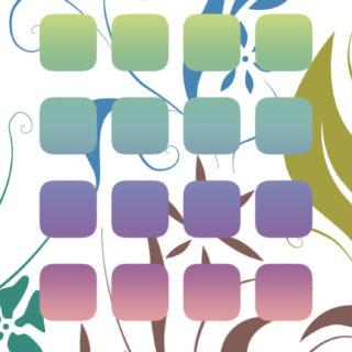棚花クールカラフルの iPhone5s / iPhone5c / iPhone5 壁紙