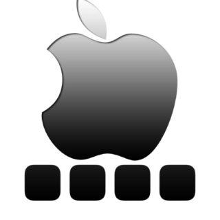 棚appleクール黒灰の iPhone5s / iPhone5c / iPhone5 壁紙