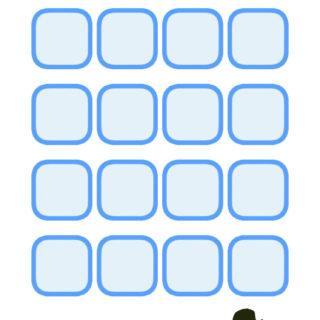 棚可愛い女子向け蝶青の iPhone5s / iPhone5c / iPhone5 壁紙