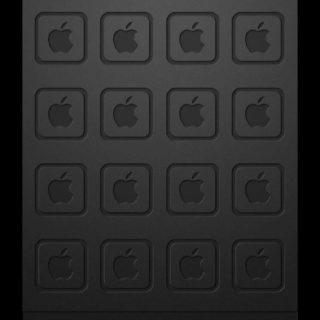 棚apple黒灰クールの iPhone5s / iPhone5c / iPhone5 壁紙