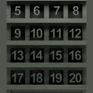 棚緑黒数字シンプルの iPhone5s / iPhone5c / iPhone5 壁紙