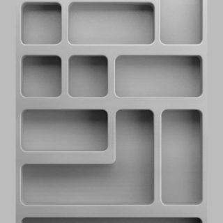 棚シンプル灰の iPhone5s / iPhone5c / iPhone5 壁紙