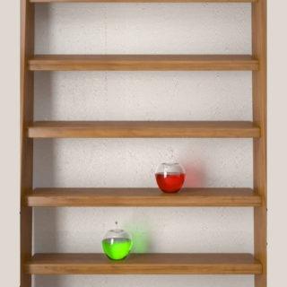 棚木緑赤シンプルの iPhone5s / iPhone5c / iPhone5 壁紙