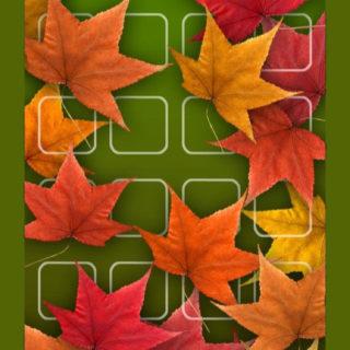棚赤紅葉花緑の iPhone5s / iPhone5c / iPhone5 壁紙