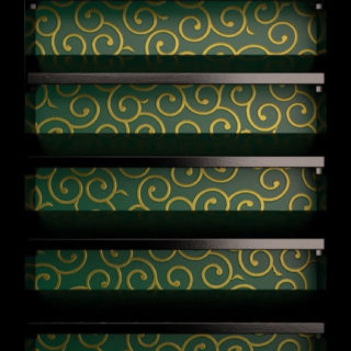 棚緑黒唐草模様の iPhone5s / iPhone5c / iPhone5 壁紙