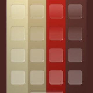 棚シンプル赤茶白の iPhone5s / iPhone5c / iPhone5 壁紙
