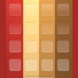 棚シンプル赤黃茶の iPhone5s / iPhone5c / iPhone5 壁紙
