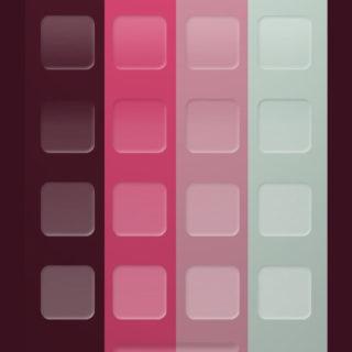 棚シンプル赤紫青の iPhone5s / iPhone5c / iPhone5 壁紙