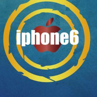AppleiPhone6青クールの iPhone5s / iPhone5c / iPhone5 壁紙