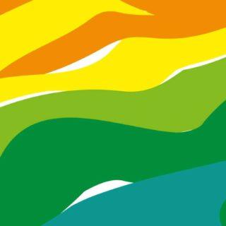 模様赤橙黄緑青の iPhone5s / iPhone5c / iPhone5 壁紙