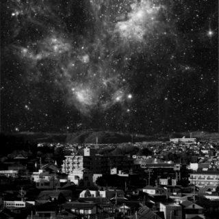 風景夜空黒の iPhone5s / iPhone5c / iPhone5 壁紙