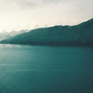 風景湖山青緑の iPhone5s / iPhone5c / iPhone5 壁紙