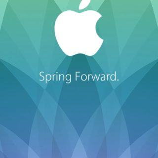 Appleロゴ spring forward.の iPhone5s / iPhone5c / iPhone5 壁紙